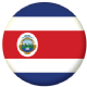 Costa Rica Country Flag 25mm Flat Back